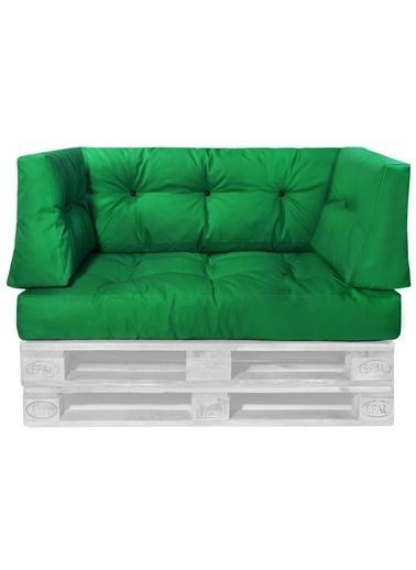 Dekoro Yeşil Dış Mekan Palet Minderi Seti (Set: 4 ) Yeşil